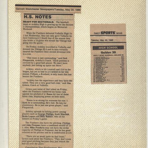 High School notes & The NY Daily News rankings