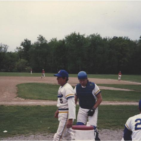 Coach Fitzpatrick and catcher Tom Ferraguzzi