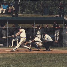 Junior Mike Ferraguzzi taking a swing in state semi-final game vs. Waterviliet.