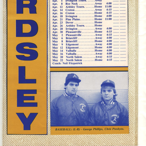 1986 promotional schedule.