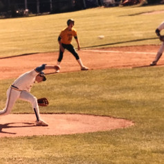 Sophomore Bernie McNerney throws a pitch vs. Greene in the championship game