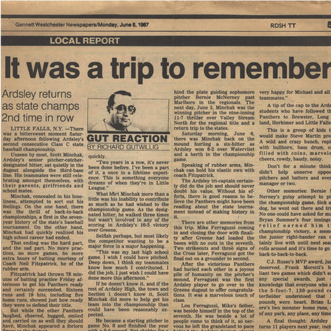 """""""It was a trip to remember"""" newspaper clipping."""