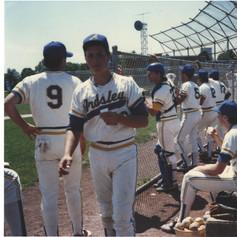 Junior T.J. Rau at a 1989 home game