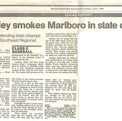 Newspaper clipping from opening round of 1988 regionals.