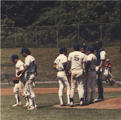 Discussion on the mound during the semi-final game vs. Watervliet