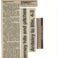 Newspaper clipping after winning Irvington Tournament.