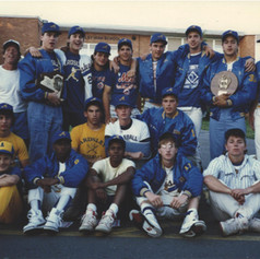 Back at the school after the 1989 championship weekend