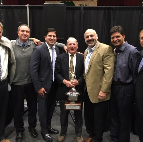 Coach and some of his players at his Westchester Sports Hall of Fame Induction