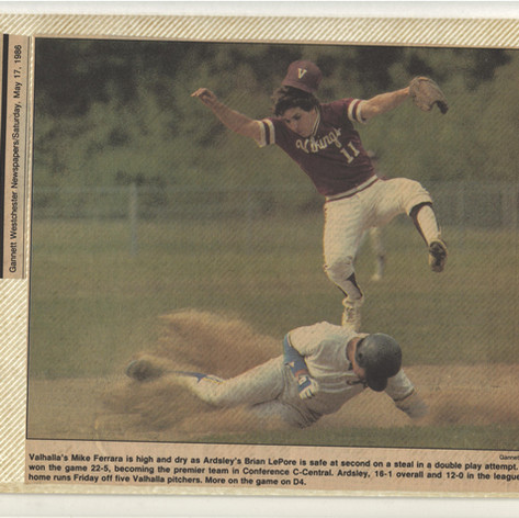 Junior Brian Lepore sliding into second base vs. Valhalla.