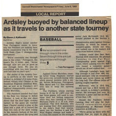 Newspaper clipping prior to state tournament