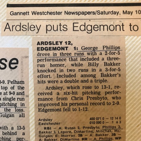 Newspaper clipping after defeating Edgemont.