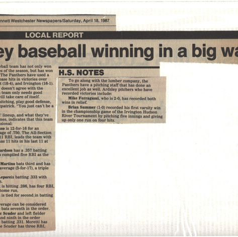 Newspaper clipping after 4-1 start to season.
