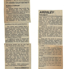 Newspaper clipping after sectional title victory over Pine Plains