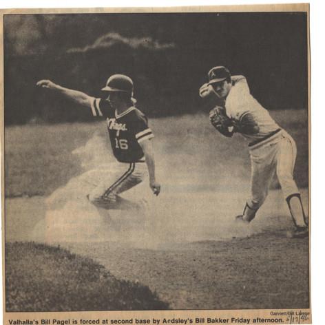Senior shortstop Billy Bakker vs. Valhalla.