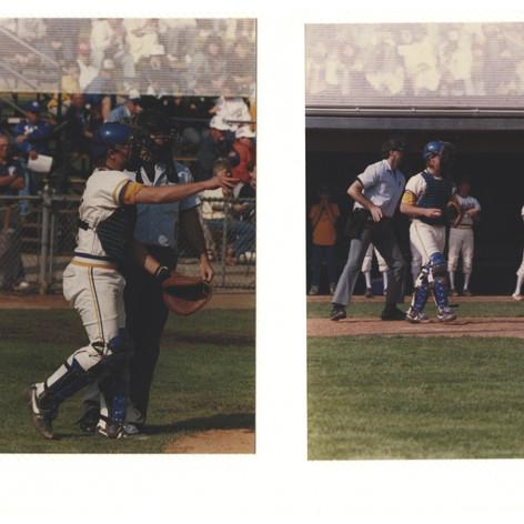 Junior catcher Tom Ferraguzzi in the state semi-final game vs. Lansing