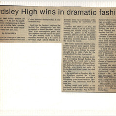 Greenburgh Inquirer article after 1987 sectionals and regionals.