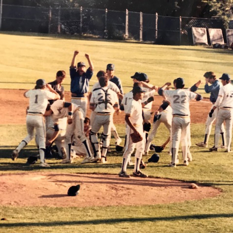 On field celebration after securing the win in the championship game vs. Greene.
