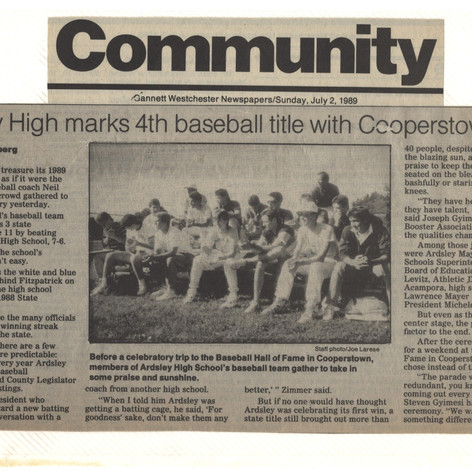 """""""Community"""" newspaper clipping after 4th consecutive championship title."""