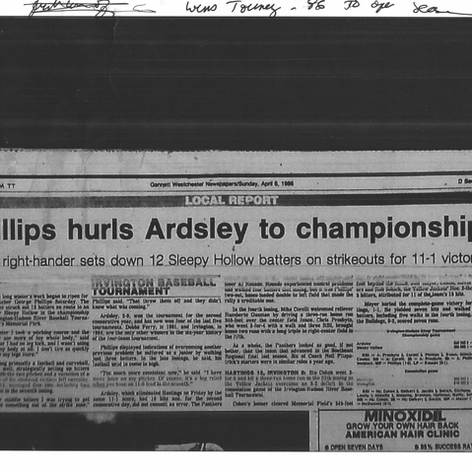 Article after defeating Sleepy Hollow in the Irvington Tournament final.