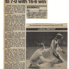 Newspaper clipping from victory over Roslyn