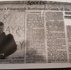 The Enterprise newspaper clipping featuring Coach Fitzpatrick
