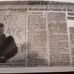 The Enterprise newspaper clipping featuring Coach Fitzpatrick