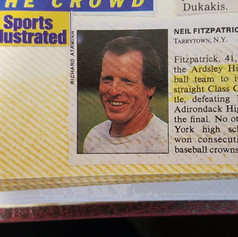Coach Fitzpatrick makes Sports Illustrated in 1989