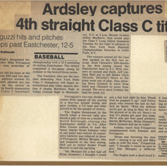 Newspaper clipping after sectional championship win over Eastchester.