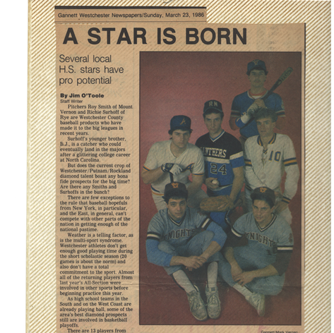 """""""A Star is Born"""" pre-season newspaper article featuring senior George Phillips."""