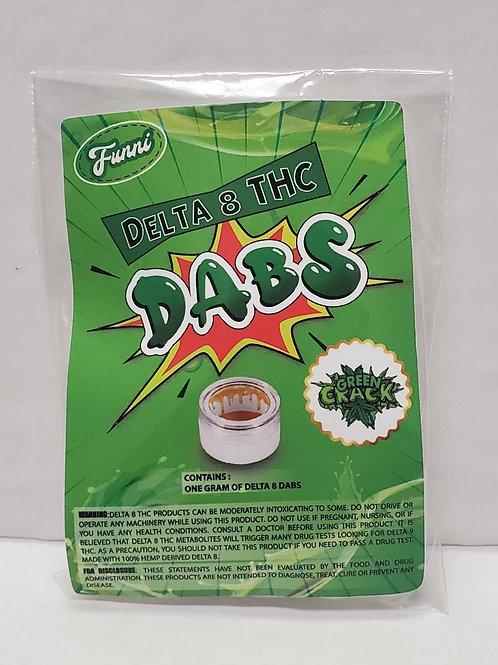 Funni Delta 8 THC Dab (1 gram), Green Crack