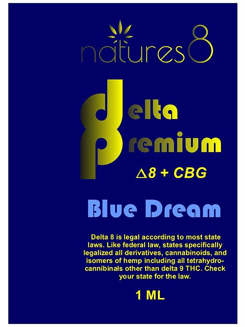 Natures 8 Delta 8 Premium Cartridge D8 + CBG, Blue Dream