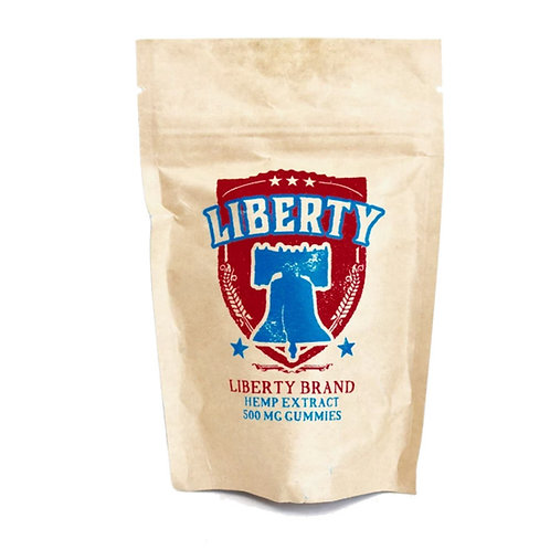 Liberty Vegan Gummies 500 mg bag (25 mg per gummy)