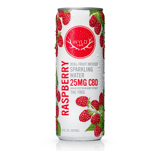 WYLD 25mg Sparkling Water - Raspberry