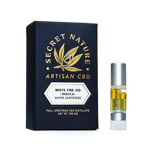 Secret Nature Artisan CBD Vape Cartridge - 1200 mg, White Fire OG