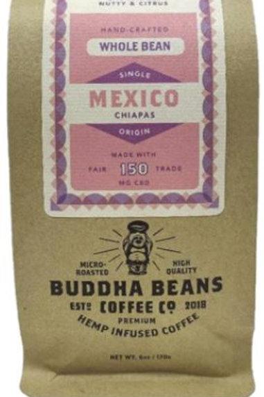 Buddha Beans Whole Bean CBD Coffee 6 oz, Organic Mexico