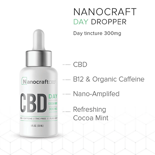 Nanocraft DAY CBD Oil 300mg 1oz
