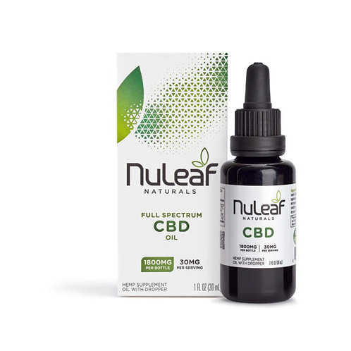 NuLeaf Full Spectrum CBD oil - 1800 mg