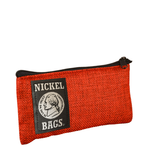 """Dime Bags Nickel bag 5"""" Zippered Pouch - Red"""