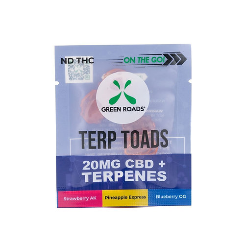 Green Roads Terp Toads 20mg CBD + Terpenes