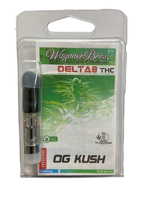 Wagoner Delta-8 Vape Cart (1 ml), Grape Ape (Indica)