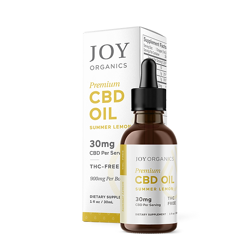 Joy Organics Summer Lemon Tincture - 900 mg