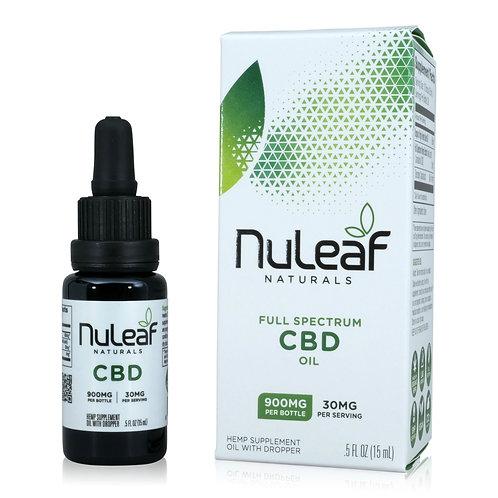 NuLeaf Full Spectrum CBD oil - 900 mg