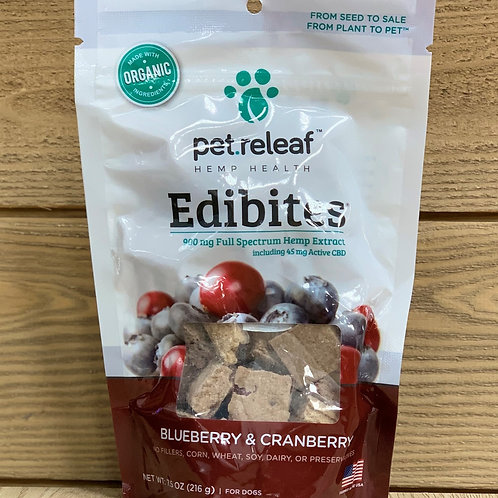 Pet Releaf Edibites Blueberry/Cranberry - 900mg