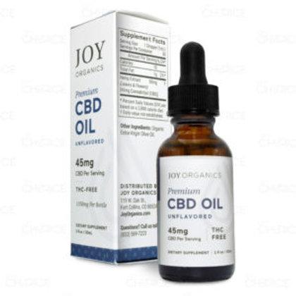Joy Organics Unflavored Tincture - 1350 mg