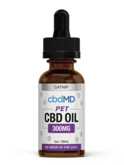 cbdMD Pet Oil for Cats, 300 mg Catnip CBD