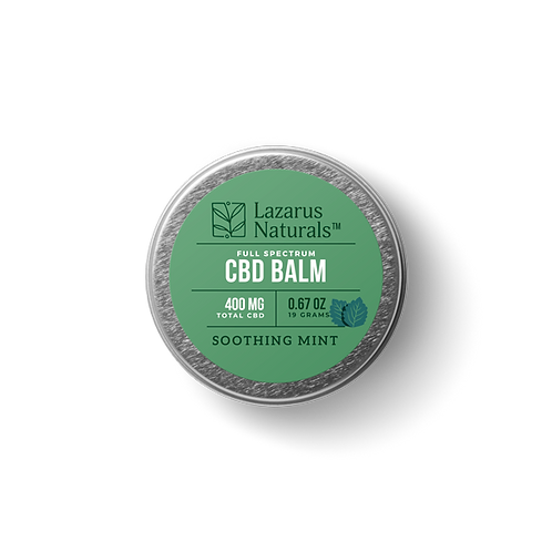 Lazarus Naturals Full Spectrum CBD Balm - 400 mg - Soothing Mint
