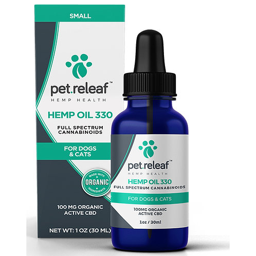 Pet Releaf CBD Oil 330, 100 mg Tincture