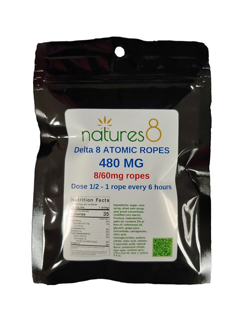 Natures 8 Delta-8 Atomic Ropes - 480 mg