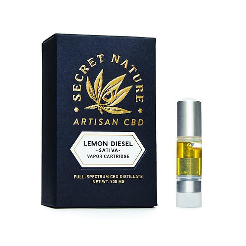 Secret Nature Artisan CBD Vape Cartridge - 1200 mg, Lemon Diesel