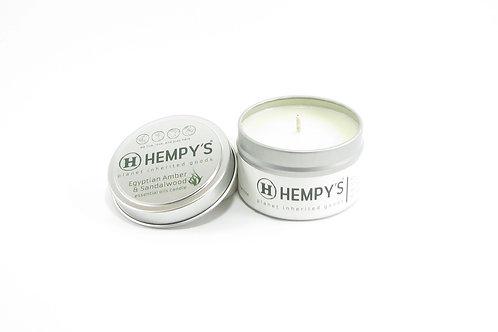 Hempys Scented Hemp Candle - Amber & Sandalwood